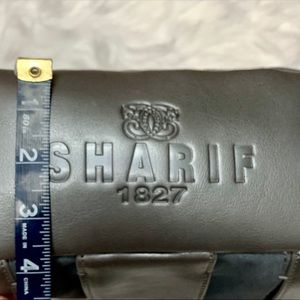 Sharif Bags - SHARIF GRAY& ANIMAL PRINT LEATHER HANDBAG NWT
